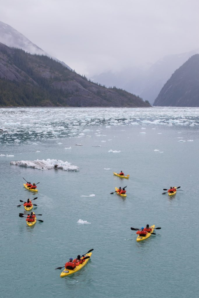 Du kayak en Alaska avec Seabourn