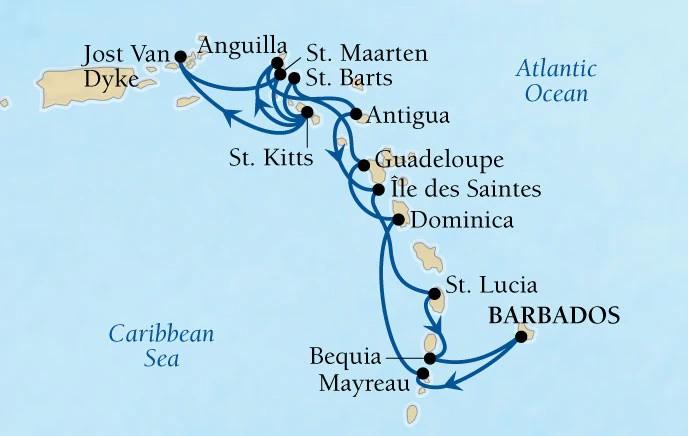 Croisière Seabourn de Saint Martin Caraïbes