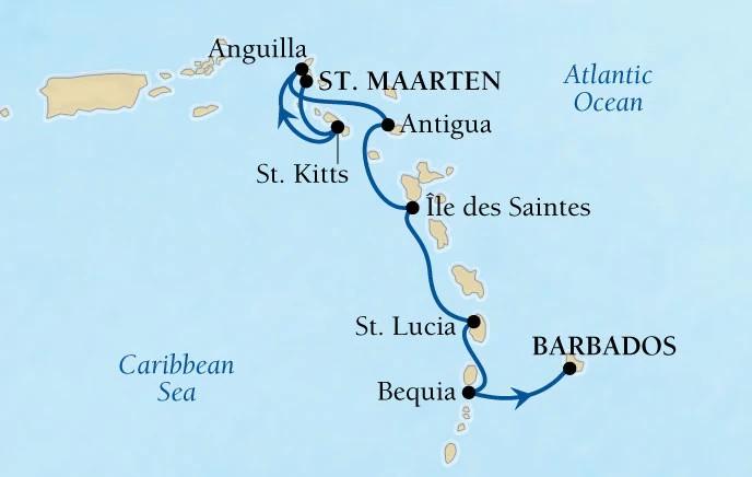 Croisière de luxe Seabourn dans les Caraïbes