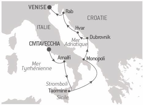 Croisière De la mer Tyrrhénienne à l'Adriatique