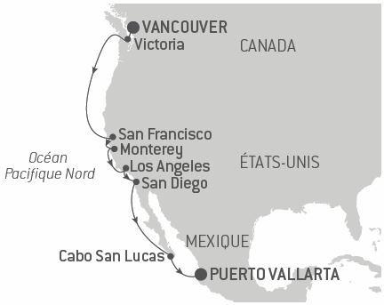 Croisière Du Canada au Mexique