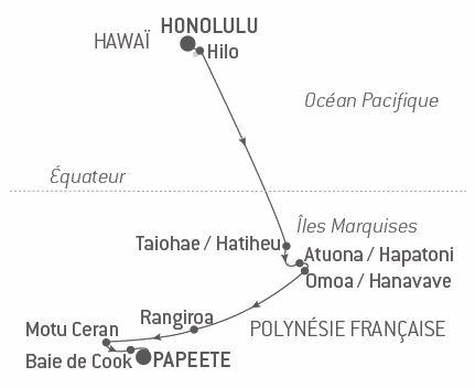 Croisière Hawaï et Polynésie française