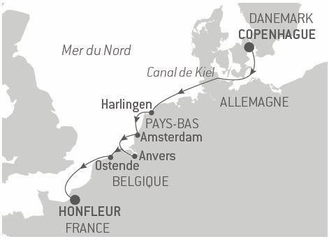 Croisière Histoire, art et architecture en mer du Nord