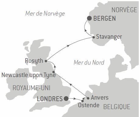 Itinéraire croisière Jardins et sites historiques d'Europe du Nord