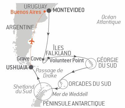 Croisière L'odyssée antarctique