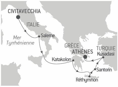 Croisière Trésors du monde méditerranéen