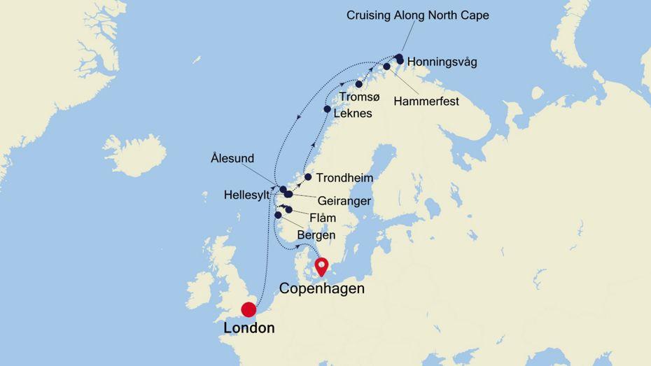 Croisière de Luxe en Europe du Nord - Fjords & Cap Nord