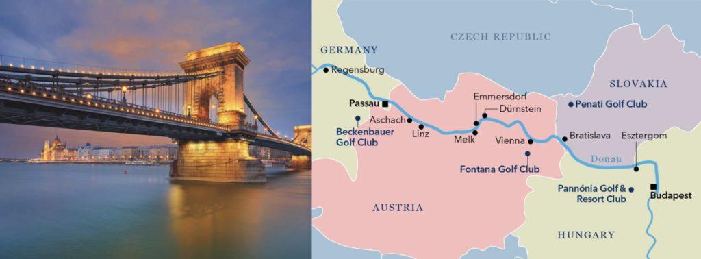Croisière golf sur le Danube