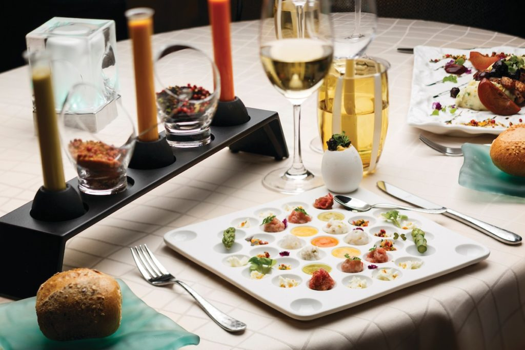 Croisière de luxe - gastronomie à bord