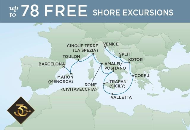 Croisière de luxe Regent Cruises & Orient Express