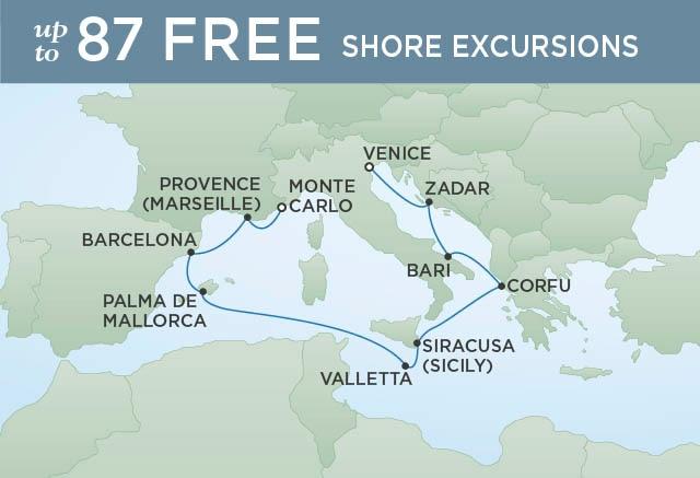 Croisière de luxe Regent Cruises avec train Orient Express depuis Paris