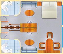 plan de Suite tout inclus avec SeaDream Yatch Club