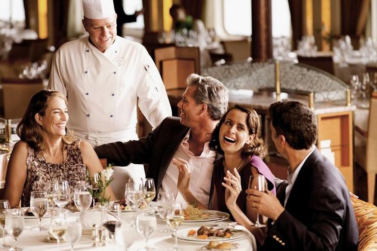 Restaurant Silversea en croisière tout inclus